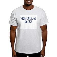 Stonehenge Rocks (Blue) - Ash Grey T-Shirt