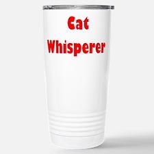 Cat Whisperer Stainless Steel Travel Mug