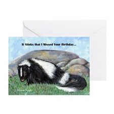 Skunk belated birthday Greeting Cards (Pk of 10)