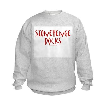 Stonehenge Rocks (Red) - Kids Sweatshirt