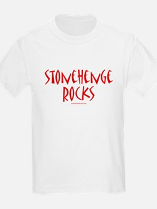 Stonehenge Rocks (Red) - Kids T-Shirt