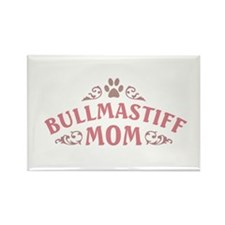 Bullmastiff Mom Rectangle Magnet