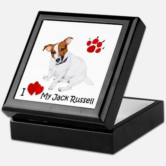 Love My Jack Russell Terrier Keepsake Box
