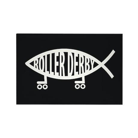 Roller Derby Religion Rectangle Magnet