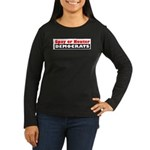 Spay or Neuter Democrats Women's Long Sleeve Dark