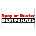 Spay or Neuter Democrats Sticker (Rectangle 10 pk)