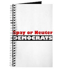 Spay or Neuter Democrats Journal
