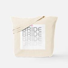Faded Gray Text Bride Tote Bag