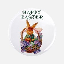 """Vintage Easter Bunny 3.5"""" Button"""