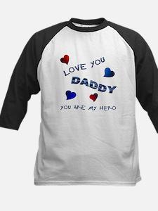 Love You, Daddy Kids Baseball Jersey