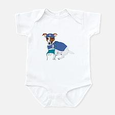 Jack Russell Scrubs Infant Bodysuit