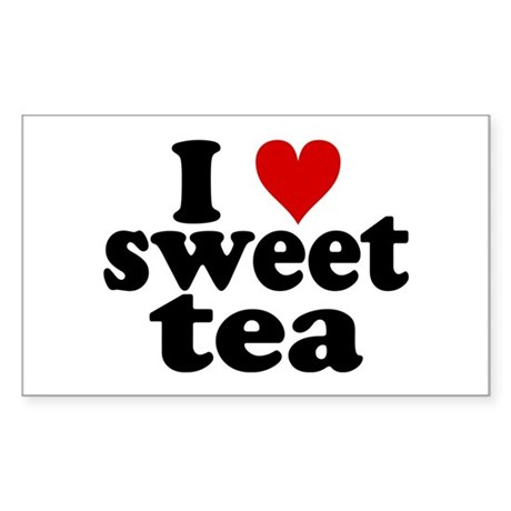 I Heart Sweet Tea Sticker (Rectangle)