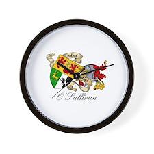 O Sullivan Coat of Arms Wall Clock
