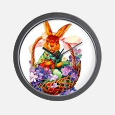 Vintage Easter Bunny Wall Clock