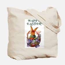 Vintage Bunny Tote Bag USE AS EASTER BASKET