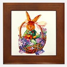 Vintage Easter Bunny Framed Art Tile