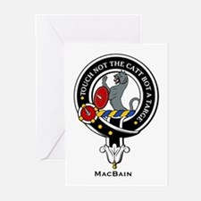 MacBain Clan Crest Badge Greeting Cards (Package o