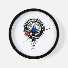 Lyon Clan Crest Badge Wall Clock