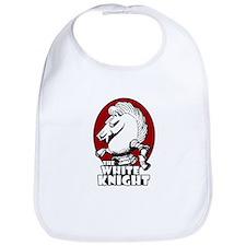 White Knight Logo Red Bib