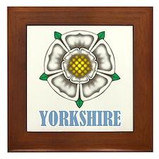 White Rose of York Framed Tile