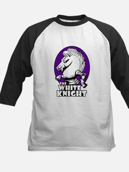 White Knight Logo Purple Kids Baseball Jersey