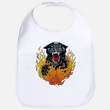 Flaming Jaguar Tattoo Bib
