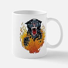 Flaming Jaguar Tattoo Mug