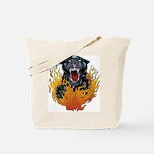 Flaming Jaguar Tattoo Tote Bag