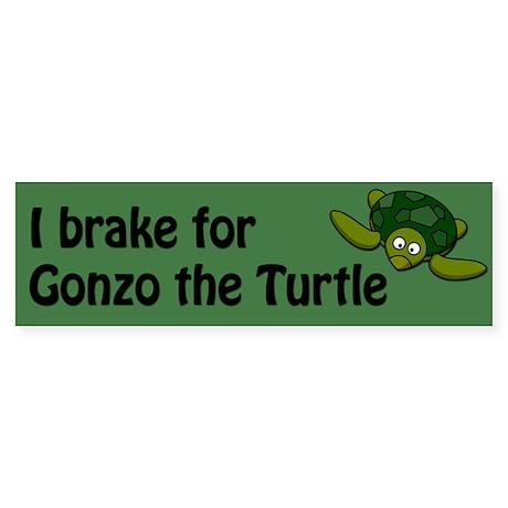 I brake for Gonzo the Turtle Sticker (Bumper)