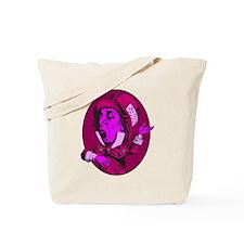 Mad Hatter Oval Pink Tote Bag