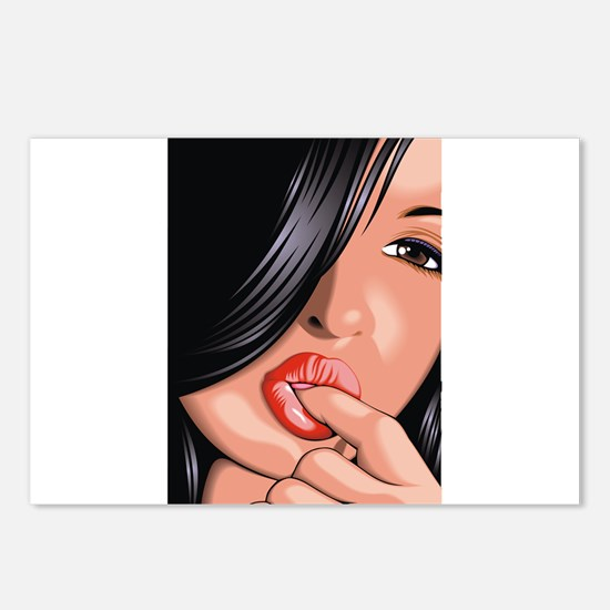 Sucking Girl Postcards (Package of 8)