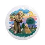 St Francis #2/ Wheaten #2 Ornament (Round)