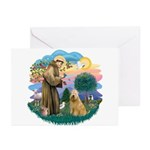 St Francis #2/ Wheaten #2 Greeting Cards (Pk of 10