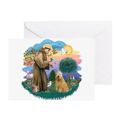 St Francis #2/ Wheaten #2 Greeting Card