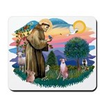 St Francis #2/ Whippet #7 Mousepad