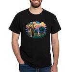 St Francis #2/ Whippet #7 Dark T-Shirt