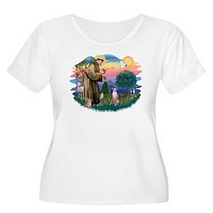 St Francis #2/ Whippet #7 T-Shirt
