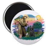St Francis #2/ Briard (blk) Magnet