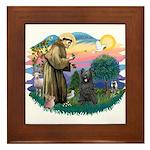 St Francis #2/ Briard (blk) Framed Tile