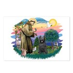 St Francis #2/ Briard (blk) Postcards (Package of
