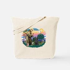 St Francis #2/ Briard (blk) Tote Bag