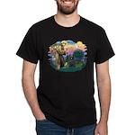 St Francis #2/ Briard (blk) Dark T-Shirt