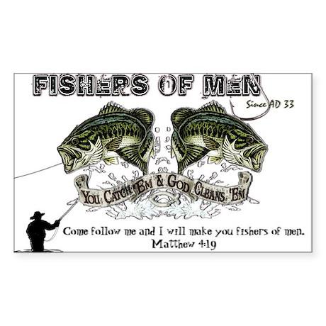 Jesus Fishers of Men Sticker (Rectangle)