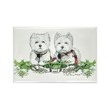 Sophie and Wesley Westie Wear!! Rectangle Magnet