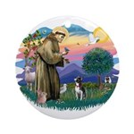St Francis #2/ Boston Ter Ornament (Round)