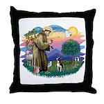 St Francis #2/ Boston Ter Throw Pillow