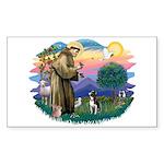St Francis #2/ Boston Ter Sticker (Rectangle 10 pk