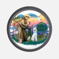 St Francis #2/ Poodle (Std C) Wall Clock