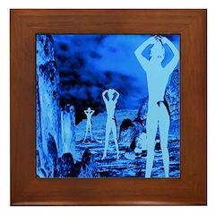 Silent Moon Framed Tile