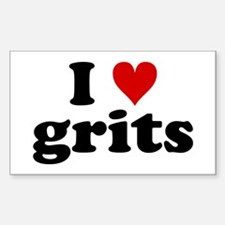 I Heart Grits Decal